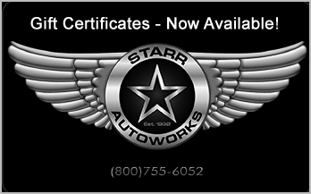 Starr auto works logo mobile detailing Los Angeles Santa Clarita Southern California